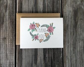 Baby Shower Thank You Cards Set, Bridal Shower Thank You Cards, Shower Thank You Card Set Bulk