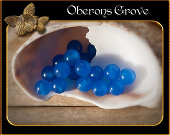 20 blue Agate beads 4mm