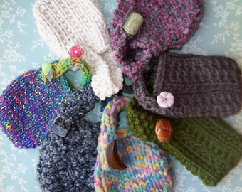 Mini Pouches Knitting Pattern Instant Download Four Designs