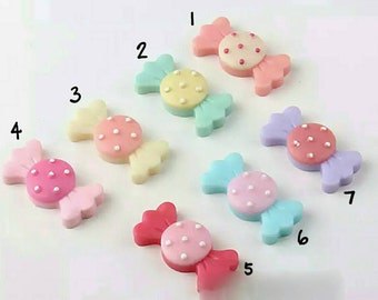 Colourful cute sweets resin charms for craft diy