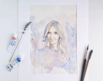 Watercolor portrait | Custom watercolour portrait | Custom painting l Child painting | Grandchild painting Family portrait