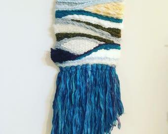 No. 13/ woven art/woven tapestry/fiber arts/Home Decor/weaving tapestry/natural textile wall art/textile wall art