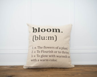 Bloom Definition Pillow Cover