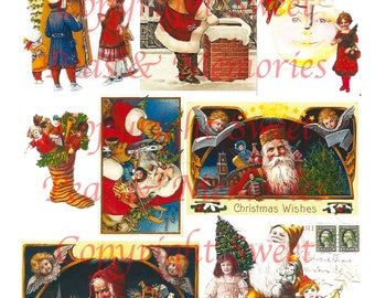 Sunny Santa Digital Collage Sheet