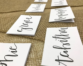 Place Cards - White