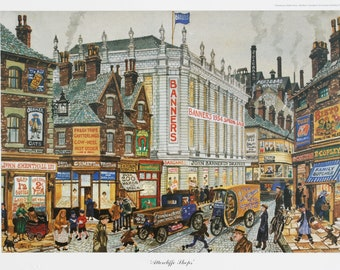 George Cunningham Attercliffe Shops Print