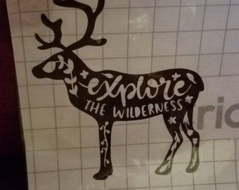 Explore the wilderness deer decal
