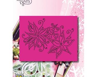 Grid Nellie 2 Christmas flowers 9 x 11 cm_LD020