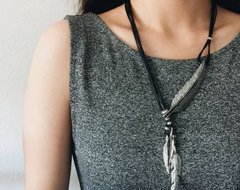 Free Spirit Feather Statement Necklaces