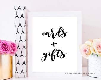Cards and Gifts - Cards and Gifts Printable - Gift Table Sign - Gifts Printable - Wedding Decor - Party Signs - Party Decor - Party Signage