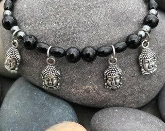Bracelet Onyx and Hematite