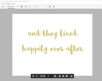And They Lived Happily Ever After Sign, Printable Wedding Sign, Instant Download