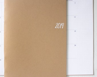 2019 large monthly planner | 2 pages per month