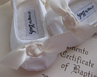 SALE Ivory Baby Girl Shoes // flower girl toddler girls shoes girls baptism shoes girls christening shoes baby sandals - Sweet Isabel Ivory