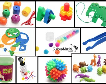 Busy Bag Activity Bundle of 10 Activities - Toddler and Preschool