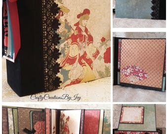 Far East Handmade Scrapbook Photo Album, 8.5 x 8.75 Custom Scrapbook, Memory Album, Photo Album