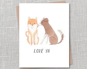 Love Ya Notecard Instant Download PDF