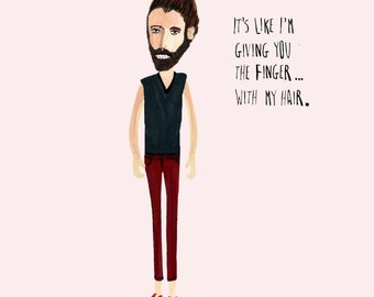 Funny Art - The Man Bun - Home Decor