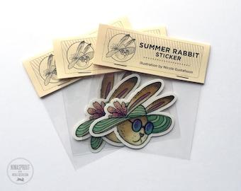 Summer Rabbit Sticker