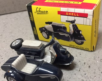 Schuco diecast Heinkle Scooter with sidecar (Vespa)