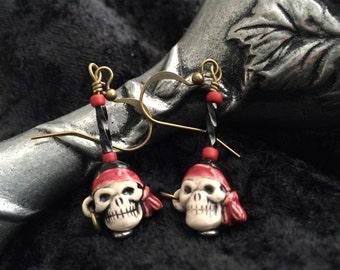 Cute Pirate Skull Earrings