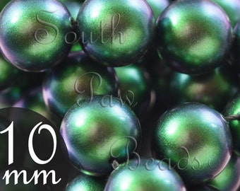 10mm Scarabaeus Green swarovski pearl beads style 5810 (10)
