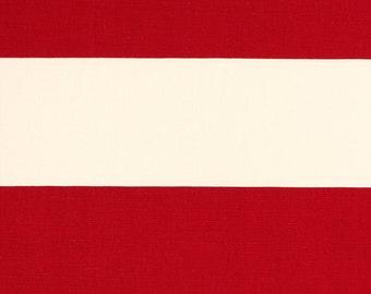 2 yards Cabana Stripe- Timberwolf Red Macon / Ivory  - Home Decor  - Premier Prints  - Rugby Stripes