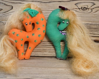 Horse Toys fabric Horse toy Pony Soft toys Fabric toys Rustic toys Cute toy Hobby toy Soft textile Fabric hand paint toy Pony play Hoss