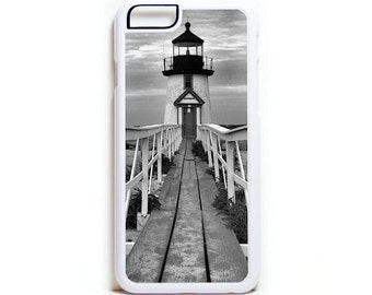 Nantucket Lighthouse iPhone 8 7 6 plus 5 5s 5c SE case Nautical Cell Phone Case Galaxy S7 S6 S5 S4 Beachy Phone Case