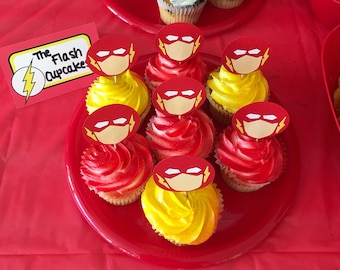 Flash cupcake toppers