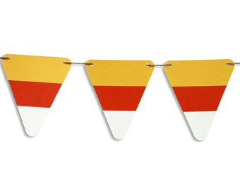 Candy corn garland, Candy corn banner, Candy corn bunting, Fall decoration, Autumn decoration, Halloween banner