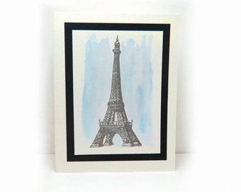 Set of 5 Eiffel Tower Cards, Blank Card, Blank Greeting Cards, Eiffel Tower Greeting Card, Note Card, French Card, Paris Card, France Card