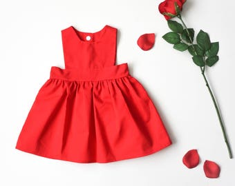 pinafore dress, baby dress, girl spring dress, geometric dress, baby girl dress, summer dress, kids clothing, easter dress