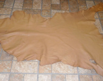 Leather 6 to 7 sq ft Mocha / Cappuccino Goatskin Cationic finished (not this hide, a similar one) 2.5 oz /1 mm PeggySueAlso™ E2787-10