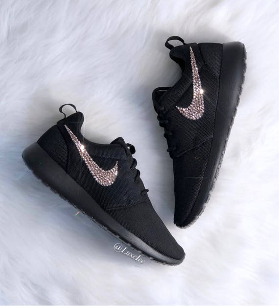 Women's Rose Cut Xirius with SWAROVSKI® Nike Gold Rose Roshe Crystals One customized Black UxraU4Yq