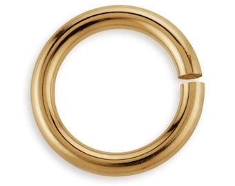 5 Pcs 7 mm 18ga 14K Gold Filled Open Jump Rings Thickness (GF18GOJR07)