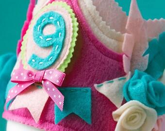 Bohemian Birthday, Feather Headress, Birthday Crown, Birthday Party Crown, Princess Birthday Crown, Girl Birthday Crown, Princess
