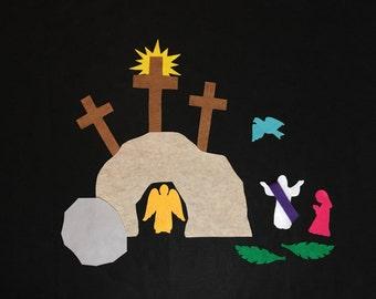 Felt Easter Resurrection Scene