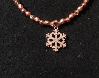 Copper colored necklace