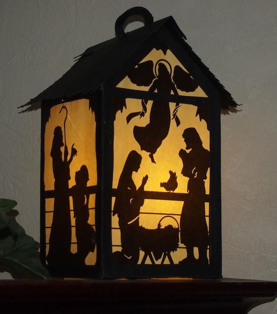 Nativity paper lantern for christmas svg and pdf digital solutioingenieria Images