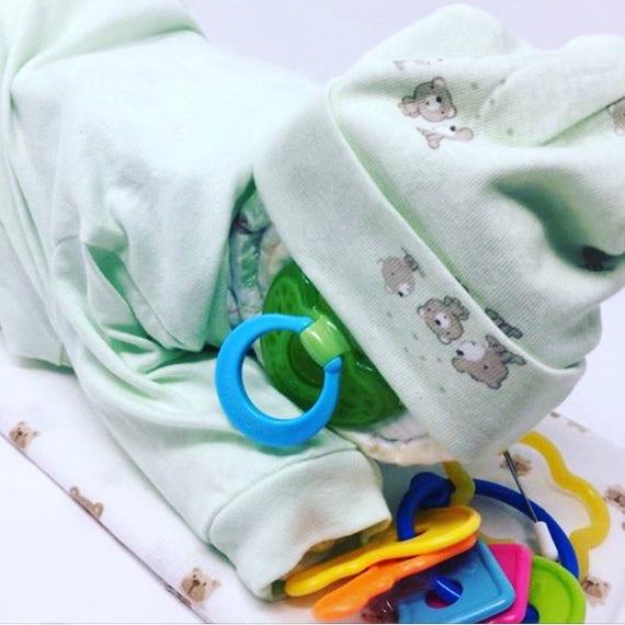 Diaper Cake, Sleeping Baby diaper cake, Newborn baby diaper cake, boy diaper cake, girl diaper cake, diaper cake centerpiece,