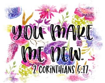 You make me new floral png instant download, mama Design/ designs sublimation