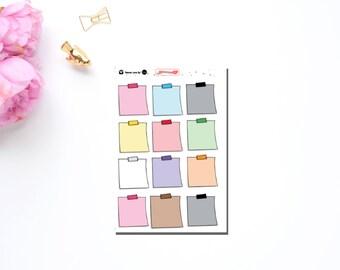 Multi Color Sticky Note Sticker