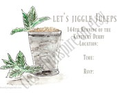 Set of 10 Mint Julep Invi...
