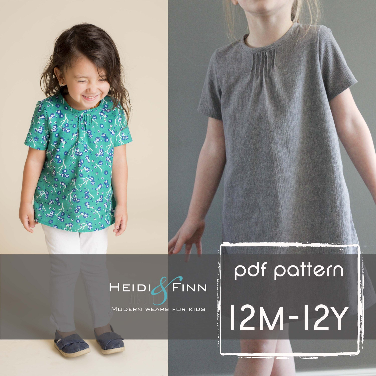 Pintuck blouse and dress pdf pattern and tutorial 12m 12y easy zoom jeuxipadfo Image collections
