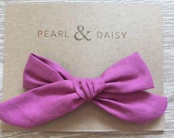 Hair bow clip, little girl hair accessory, Purple