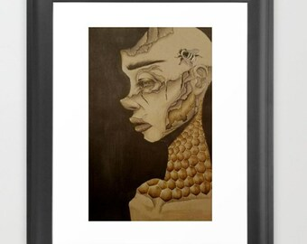 Honey Bee ( Art Print )