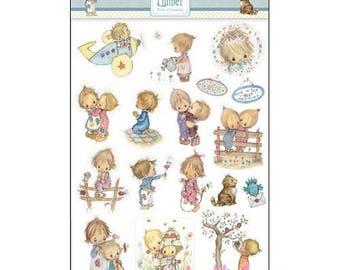 "Stickers ""Lillibet"" childhood embellishment scrapbooking card making (ref.110). *."