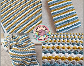 Hand Crocheted Baby Blanket, Blanket
