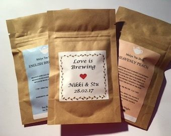 Love is Brewing Wedding favours Tea The Perfect Blend Loose Leaf Tea favours